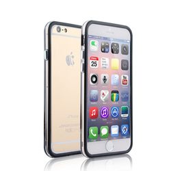 Slim Bumper Case for iPhone 6 Colorful Soft TPU Hard Crystal PC Hybrid Cell Phone Frame Case