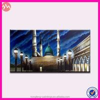 Colorful Canvas Muslim City Oil Picture