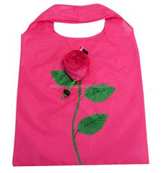 Eco colorful rose shape foldable shopping bag