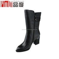 china chengdu lady shoes factory maker Women Suede Leather Half Boot Manufacture Price New Design Lady Suede woman Fashion Boot