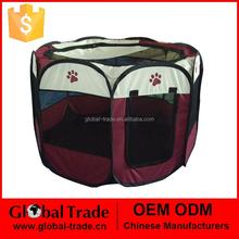 8 Sides Pet Playpen Dog Cat Rabbit Puppy Pig Play Pen Run New Dark Brown Soft Cages 450077