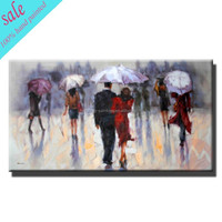Hand-painted potrait canvas oil painting for modern home decoration
