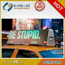 GPS and 3G input smart led taxi/car top/roof advertising signs