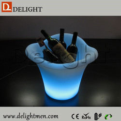 Wholesale outdoor ip65 glowing 16 color wireless control stand cooler design led plastic wine carrier for outdoor event