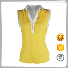 Clothes supplier High quality Fashion Dyed women chiffon blouse