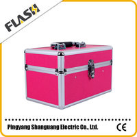 Wholesales multi-functional red professional hairdressing cosmetic aluminum cases