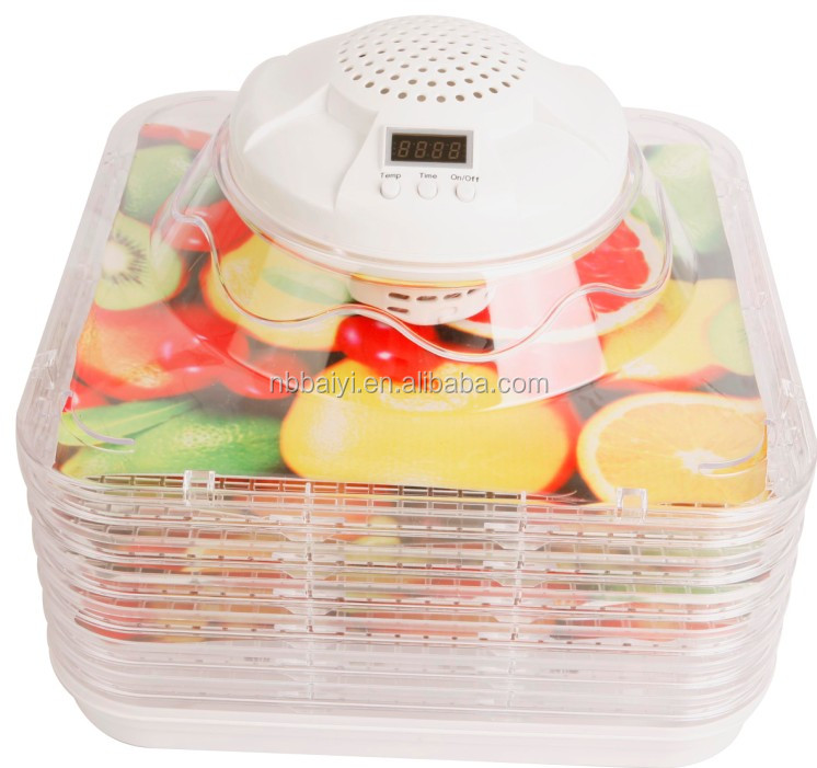 square shape fruit dehydrator with adjustable tray