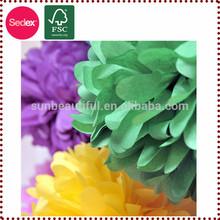 flor de papel pompón flor colgante de bolas de papel