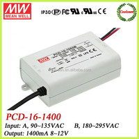Meanwell triac dimmer led driver 1400ma PCD-16-1400