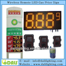 Excellent factory of digit design easy for maintaining high brightness waterproof gas station price signs for sale
