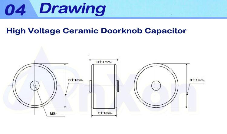 Doorknob Condenser 15kvrms 500pf High Voltage Ceramic
