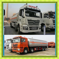 40000 liters Shanqi Shacman 3 tank manholes fuel tanker 8x4 Refueling bowser truck for carrying oil fuel