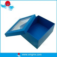 Blue Wholesale Kraft Paper Gift Boxes with Window