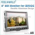5 pulgadas cámara- top lcd monitor hdmi con entradas sdi marco de aluminio
