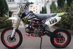 Pit Dirt Bike 110cc 125cc 140cc sump guard bash plate start kick start engine spare part
