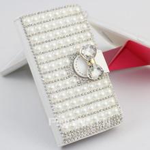 bling bling diamond full pearl cover case for iphone6 6 plus