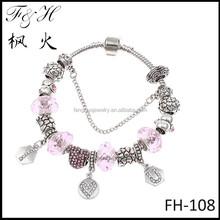 2015 newest design bracelet wholesale I love you dangles and European style charm bead fit diy handmade bracelet for women