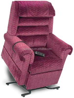 Display on Wholesale Home Furniture Lift Massage Electrical Leather Heated Vibrating Recliner Chair