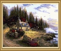 40*50cm manzara yağlıboya tuval, tuval boyama fiyatları