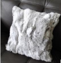 Raccoon dog /Rabbit /Fox /Mink Fur Pillow