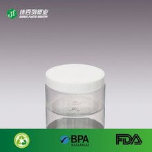 Chinese manufacturer white cap round shape plastic 120ml clear plastic cylinder container