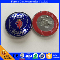 Custom chrome front bonnet logo Badge Emblem For SAAB Scania