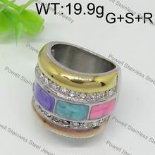 in acciaio inox lusinghiero 3 carati di diamanti anelli di fidanzamento