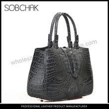 Stock available Top layer leather genuine crocodile skin handbag