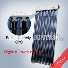 Suntask new product CPC heat pipe solar collector with high power output