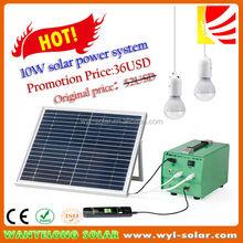 2014 Promotion-Lowest price 10watt Solar energy system for home lighting
