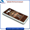 customs blank sublimation rubber phone case for Samsung Galaxy A3 heat transfer mobile phone cover