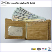New arrival top grade genuine leather rfid blocking wallet with coin pocket