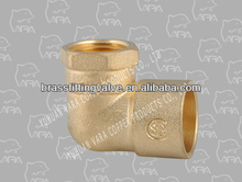 260-42 90 degree equal elbow brass fitting (BRASS FEMALE SWEAT ELBOW 90(F X C) COPPER.)(LEAD FREE)