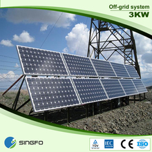 3kw off-grid solar power system, solar panel system 3000W for home