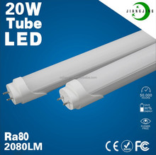 High performance High Ra80 High PF>0.95 newest led tube light t8 20 watt