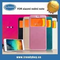 KLD brand china alibaba high quality pu leather hongmi phone flip cover case for xiaomi redmi note