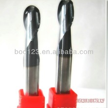 R4.0 cemented carbide 2 flutes cutting tools / end mills R4.0*8D*16*60L