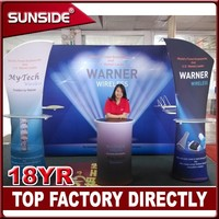 Soft fabric tension trade show display for exhibition in 2015 ZBX06