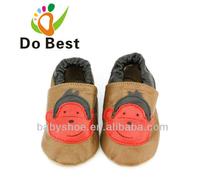 2014 zapatos de bebé de cuero suave