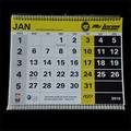2015 de moda del diseño de gran tamaño calendario de pared