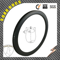 new design 27mm width tubeless-clincher rims carbon bicycle parts 700c carbon UD matte 50mm depth with road bike wheels