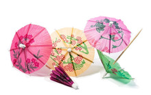 Paper Cocktail Parasols Umbrellas drinks wedding luau party sticks