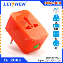2015 universal female type supper protector universal travel adapter