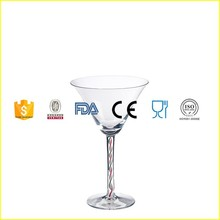 Crystal Cocktail Glasses with Beautiful Colored Stem Martini glass