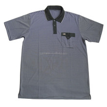 men's yarn dyed stripe polo t -shirt with spandex