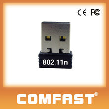 Mbps 150 mini adaptador usb wifi n wireless lan tarjeta de red soporte hdtv wifi usb driver comfast cf-wu710n