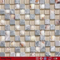 stone and glass Shell Mosaic Tile 4mm 5mm 6mm 8mm