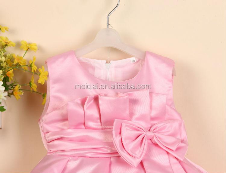 Nieuwe stijl mouwloze n zes jaar oude baby meisje jurk meisjes feestjurken met grote strik - Bebe ontwerp ...