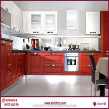 Superventas del gabinete de cocina de color cocina económica proyecto gabinete populares