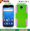 New products 2015 2 in 1 Silicone Mobile Phone Case For Samsung Galaxy I9500 S4